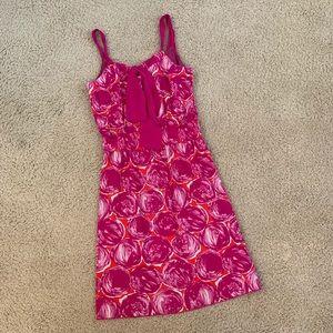 Tory Burch Pink Painted Circles Dress